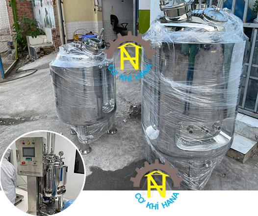 Tank pha chế vaccine Tank dung tích 100L và Tank 200L